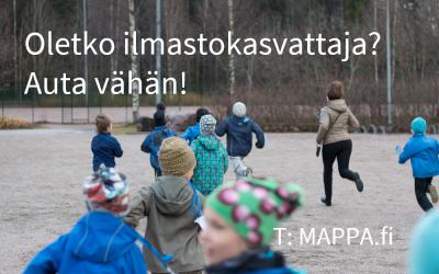 Tule mukaan testiryhmään kokeilemaan MAPPA-teemareppuja ja kehittämään ilmastokasvatusta!